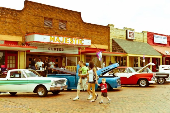 Car Show in front of Majestic Movie Theater