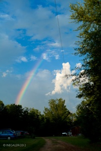 Battle of the Neches Memorial Day 34 - Rainbow at the Site