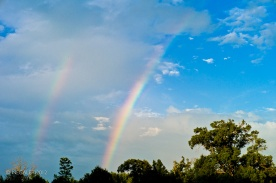 Battle of the Neches Memorial Day 36 - Double Rainbows at the Site 1