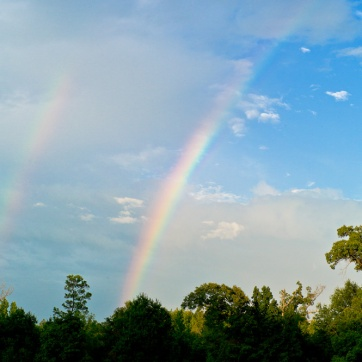 Battle of the Neches Memorial Day 37 - Double Rainbows at the Site 2