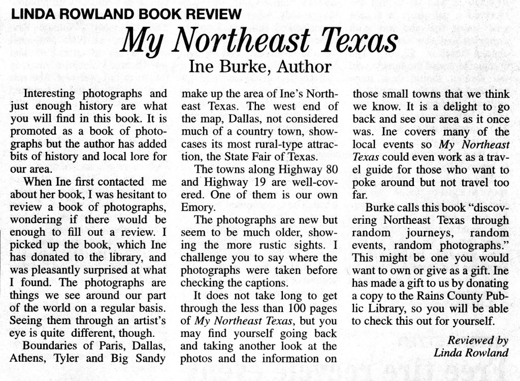 Book Review in Rains County Leader 19Feb2013a