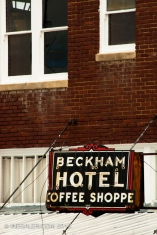 The old Beckham Hotel neon sign
