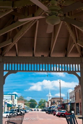 Looking North to Johnson St from the gazebo on Commerce St
