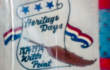 Heritage Days Quilt commemorating 100 years of Wills Point in 1974