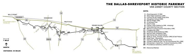 The Dallas-Shreveport Road Historic Parkway, Van Zandt County, Tx