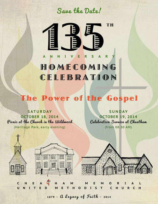 CMUMC 135th Anniversary -Save the Date flyer