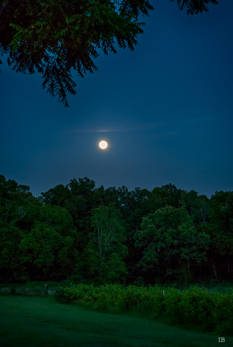 Moon Rising on July 1st, 2015 - 9.07 PM